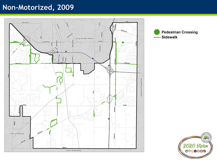 2009 Non-Motorized Infrastructure Map